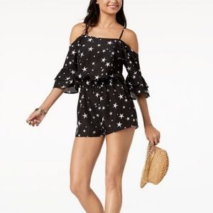 Miken Swimsuit Cover-up Romper Black {Large} NWT